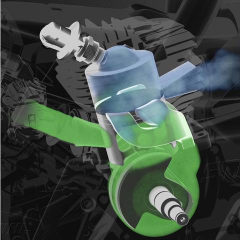 Motor STIHL 2-MIX con barrido de gases por aire